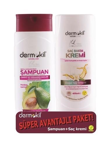 Dermokil Dermokil Avokado Şampuan + Saç Kremi-2'li Avantajlı Set-400 ml Renksiz